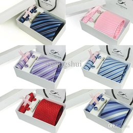 Wholesale Male Gift Set Tie - Wholesale-Ties Male Formal Ties Married Commercial Ties Gift Box Set 6 Ties for Men