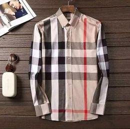 Wholesale Mens Striped Dress Shirt - 2017 Brand Men's Business Casual shirt mens long sleeve striped slim fit camisa masculina social male T-shirts new fashion man checked shirt