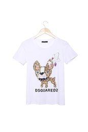 Wholesale Shirts Mujer - FG1509 Womem T Shirt Cropped Emoji Leopard Dog Printed Summer Style Women TopsTshirt Short Sleeve Poleras de Mujer