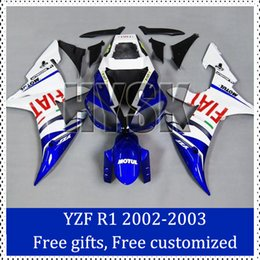 Wholesale Ems Free Fairings - Fiat decal fairing kits for Yamaha 2002 20003 YZF R1 motorcycle Brand new 02 03 YZF R1 sportbike Bodycover with gifts free ems shipping