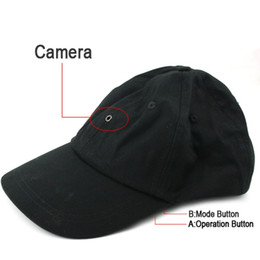 Wholesale Hd Player Hidden Camera - Spy Cap Camera with MP3 player & Bluetooth & Romote Control HD Hat mini DVR Hidden pinhole camera black in retail package dropship