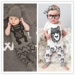Wholesale Boys Button Vest - Retail 2016 summer style infant clothes baby clothing sets boy Cotton little monsters short sleeve 2pcs baby boy clothes