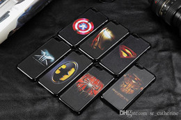 Wholesale Iphone Superhero Cases - Superhero painted case for iphone6 6plus 4 4S 5 5S 5C America Marvel Super Heroes Style cellphone iPhone cases 10PCS New arrival