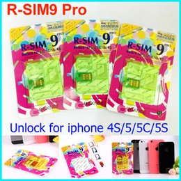 Wholesale pro gsm - Newest R-SIM 9 RSIM9 R-SIM9 Pro Perfect SIM Unlock Sim Official IOS 7.0.6 7.1 ios 7 RSIM 9 for iphone 4S 5 5S 5C GSM CDMA WCDMA 3g 4g
