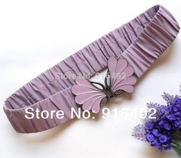 Wholesale Elastic Gun Belt - Belts Cummerbunds Women's Elastic Belts Band Butterfly Gun Black Belts For Woman Wide Belt Cummerbund For Women Corset 3 Colors