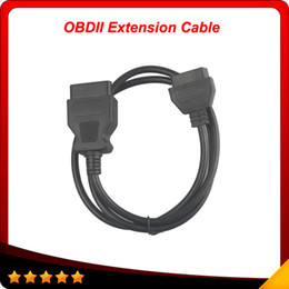 Wholesale Obd2 16pin - 2016 Top selling elm327 OBD-II OBDII OBD2 16Pin Male to Female Extension Cable 1.2m free shipping