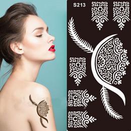 Wholesale Tattoos Wholesale India - India Henna Design Tattoo Stencil Henna Tatoo Template Body Painting Art