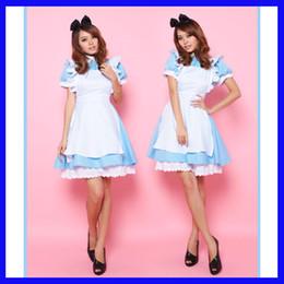 Kostümleri Cosplay Tema Kostüm Alice in Wonderland fantasy mavi ışık tonu lolita hizmetçi kıyafeti hizmetçi Cadılar Bayramı kostümleri seksi lingeries 190212 cheap lights outfits nereden işık kıyafeti tedarikçiler