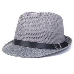 Wholesale Hollow White Jazz - Wholesale-Summer Women Men Fedoras Unisex Casual Hollow Mesh Caps Jazz Hats Fedora Casual Male Hat 2016 Fashion