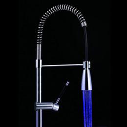 Wholesale Sensor Faucets Basin - 3 Color LED faucet Temperature Sensor Control LED Faucet Kitchen Tap Basin faucet light torneira cozinha grifos cocina