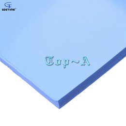Wholesale Blue Compound - Wholesale- Gdstime 2 Pcs 100mm * 100mm * 5mm Blue IC Chip Conduction Heatsink Thermal Pad Compounds Silicone Pads
