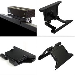 Wholesale Tv Clip Mount Kinect Sensor - 1x New TV Clip Mounting Stand Holder for Microsoft Xbox 360 Kinect Sensor Stand Free Shipping