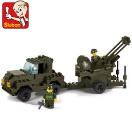Wholesale Blocks Brick M38 - SLUBAN Building block set M38-B7300 Air force Military Flak Cannon 3D Construction Model Bricks Toys for Children