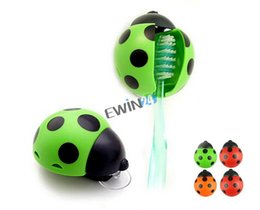 Wholesale Sanitary Toothbrush Holder - Delicate Novelty Bathroom Accessories Sanitary Kids Cut Cartoon Animal Sucker Ladybug Wall Mounted Toothbrush Holder Suction Cup 1500pcs