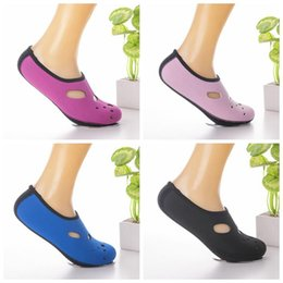 Wholesale Wholesale Swim Shoes - 4 Colors Water Sports Diving Socks Anti Skid Beach Socks Swimming Surfing Socks Adult children Diving Boots Wet Suit Shoes CCA8136 50pair