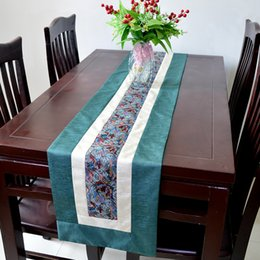 Wholesale Red Christmas Table Runner - Lengthen 120 inch Patchwork Table Runners Classic Rustic High End Silk Cotton Luxury Table Cloth Wedding Christmas Dinner Party Decoration