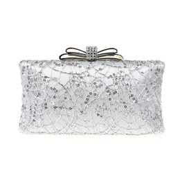 Wholesale Wedding Clutch Lace - 2016 new fashion Sequin party bags wedding dress handbags elegant diamonds evening bags one chains small day clutches 5 colors