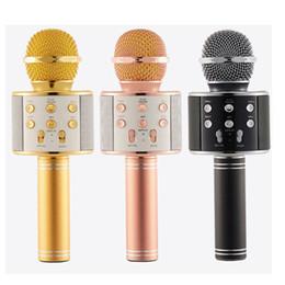 2019 mikrofon für tablette WS858 Bluetooth drahtlose Mikrofon HIFI Lautsprecher Kondensator Magie Karaoke Player MIC Lautsprecher Rekord Musik Für Iphone Android Tabletten OTH130 rabatt mikrofon für tablette