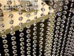 Wholesale Crystal Prisms Glass Wholesale - bead chain for wedding decoration A grade glass crystal prism bead chain wedding garland, christmas tree crystal hung strands strung