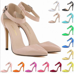 Wholesale Black Peep Toe Sandals - Fashion Women's Open Toe Ankle Straps Sandals WOMEN SHOES HIGH HEELS PEEP TOE SANDAL PARTY CASUAL Shoes 14 colors avalaible