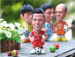 Wholesale Ronaldo Toy - New Toy doll piggy bank Mr Aimard messi cristiano ronaldo robben the Netherlands Wedding Gift Baby gift Money Bank