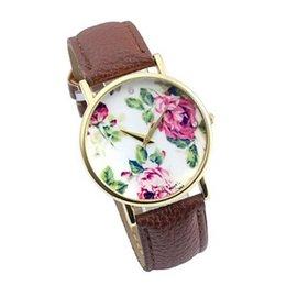Wholesale Women Watch Leather Band - Gofuly relojes mujer 2015 Fashion women watches Rose Leather Band Quartz Analog Wrist Watches Watch Wholesale