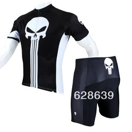 Wholesale Punisher Jersey - FG1509 Hot sale 2015 New Mens Cycling Jersey+Shorts Set Bike Clothing Paladin Sport Punisher S-3XL