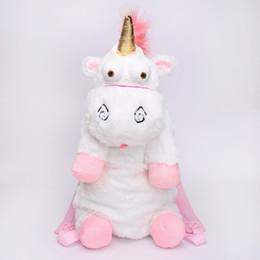 Wholesale Stuffed Animal Backpacks Children - Unicorn Cute Plush Backpacks 60CM Cartoon Animal Doll Soft Stuffed Toy Children Kid Fluffy Bag free shipping