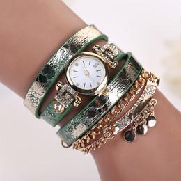 Wholesale Korean Ladies Glasses - Hot Sale Korean style Fashion New Diamond dial Dress Retro Ladies Bracelet Watches Woman Casual Long Leather Quartz Watch