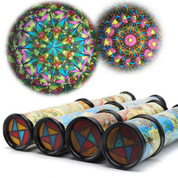 Wholesale Metal Toy Pots - Wholesale- 2Pcs lot New Rotate Kaleidoscope Magic magical Variety within the view of the flower pot with paper children kindergarten toys