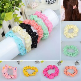 Wholesale Rubber Band Hair Designs - 2014 Newest Design 10pcs set Lots Cute Sweet Girl Elastic Hair Band Ponytail Holder Accessories Headwear Free Shipping