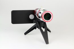 Wholesale Iphone5 Zoom - Wholesale-free shipping,20x degree optical zoom Telescope lens camera for iPhone5 iPhone 5,with tripod   case