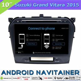 Wholesale Grand Vitara Radio - 2 Din Car DVD GPS Multimedia Navigation System Android Quad Core for Suzuki Grand Vitara 2015 with Bluetooth Radio RDS OBD Touch Screen