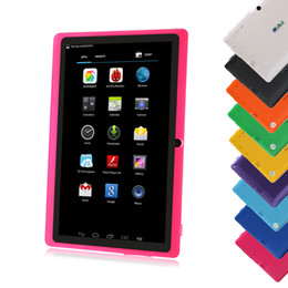 """Wholesale Capacitive Kids Tablet - IRULU 7 inch Tablet PC Tablets Quad Core 8GB Allwinner A33 Android Tablet PC Q88 Tablet PCs 7"""" Kids Tablet PC"""