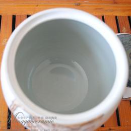 Argentina Suministro de cerámica pintada a mano caddie seal Clásica depósito de loto Chaguan alta temperatura y alta white business regalos 461 Suministro