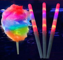 Wholesale Led Light Concert - 28*1.75CM Colorful LED Light Stick Flash Glow Cotton Candy Stick For Vocal Concerts Night Parties