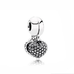 Wholesale Mother Son Bracelets - Authentic 925 Silver Beads Silver Mother & Son Silver Heart Hanging Charm Fits European Style Jewelry Bracelets
