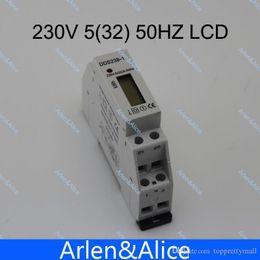 Wholesale Digital Watt Hour Meter - 5(32)A 230V 50HZ Single phase Din rail KWH Watt hour din-rail energy meter LCD A3