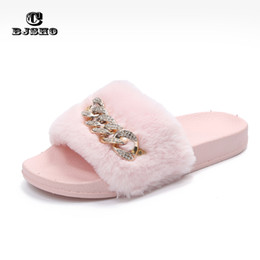b55ab8fa3780 CBJSHO Fluffy Fur Slippers Open Toe Soft Indoor Home Slippers Women Shoe  Slip On Flat with Comfortable Warm Slippers Shoes Woman