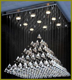Wholesale Led Bulbs Energy Saving Durable - Free shipping+led bulb 110-240V PYRAMID DESIGN K9 Crystal thick base durable steel wire international electric wire Energy saving 110-240v