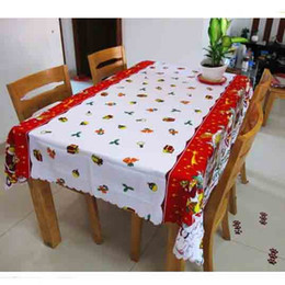 Wholesale Tablecloths For Wholesale - Christmas Party Color Table Cloth Restaurant Hotel Tablecloth Cover Overlays Wedding Party Decoration for Sale SD706