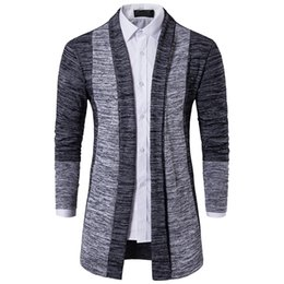 Wholesale Turtle Neck Pullover Slim Fit - Men Sweater Brand Clothing Patchwork Cardigan Knitted Pullover Men Slim Fit Plus Size Men's Top Long Sleeve Sweater Coat