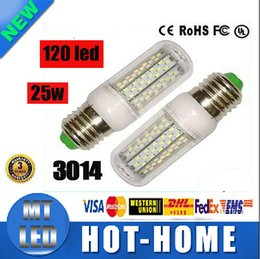 Wholesale Coolers Manufacturers - x200 TOP manufacturers wholesale Led corn bulb 120led SMD 3014 25W 110V-220V E27 E14 B22 G9 360 Angle LED Light lighting warranty 2 years