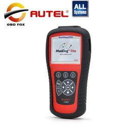 Wholesale Scanner Maxidiag - Original Autel Maxidiag Elite MD802 (All system) Free shipping Update via internet code reader scanner + MV208 8.5mm As Gift