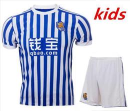 Wholesale Royal Jerseys - 2017 2018 new Real Sociedad kids Home Soccer Jersey kit 17 18 Royal Society orange Free Ultra Fast XABI PRIETO CARLOS JUANMI Football Shirts