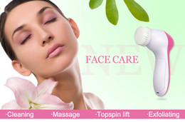 Wholesale Multifunction Face Massager - 5 in1 Multifunction Electric Body 5-1 Face massager Facial Deep Cleansing Relief Brush Spa Skin Care Massage Wash