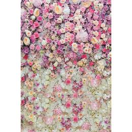 Розовые кремовые малыши онлайн-Розовый Белый Крем Цветы Фотография Фон Виниловые Ткани Ребенок Новорожденный Студия Фотосессии Обои Дети Свадьба Фото Backgroud