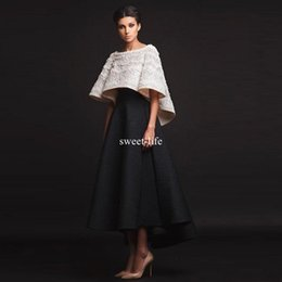 Wholesale Jackets Pearls - Krikor Jabotian 2017 Luxury Long Beaded Evening Gowns Elegant Jacket Long Sleeves Hi-lo Newest Modern Celebrity Prom Party Gowns