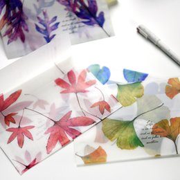 Wholesale Pcs Song - Wholesale- 8 pcs lot Song of Fallen Leaves Paper Envelopes Dull Polish Translucent Message Greeting Card Letter Envelope Storage Gifts
