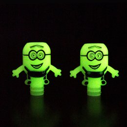 Tropfspitze grün online-Luminous Minions 510 EGO Tropfspitzen Grün in der Nacht Weiß in der Nacht Kunststoff-Weitwinkel-Tropfspitzenadapter E Zigaretten CE4 DCT trockener Kräuterverdampfer